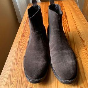 Lavorazione Artigiana Men's Brown Suede  Boots